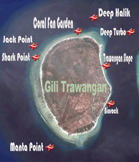 Map-sites-Gili-Trawangan